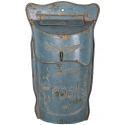"""Boîte aux lettres """"Post"""" bleue"""