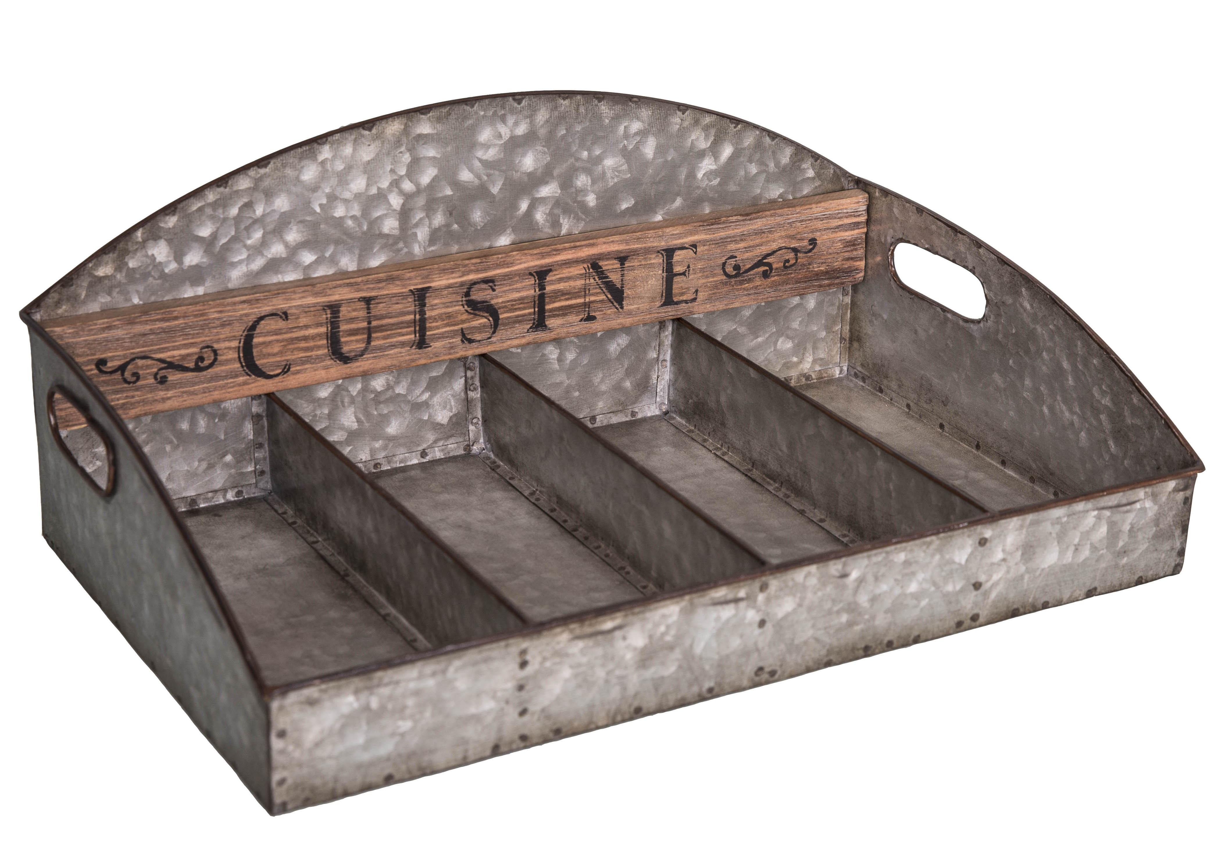 Range couverts Cuisine en zinc par Antic Line, idéal pour une déco vintage