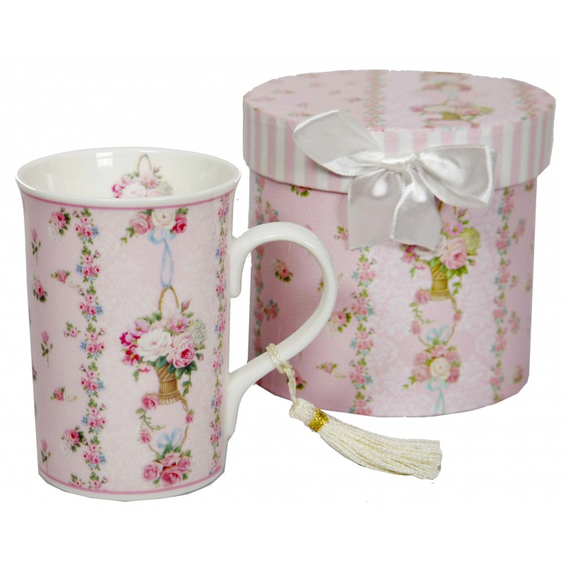 coffret mug d cor tasse fleurie roses anciennes pour une d co shabby chic. Black Bedroom Furniture Sets. Home Design Ideas