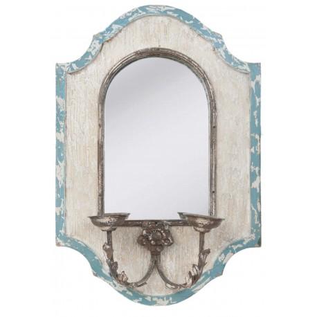 Miroir mural chandelier antique en bois