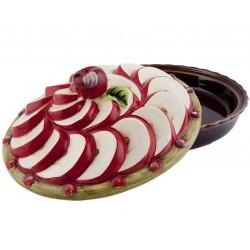 Grand plat de présentation avec couvercle pommes