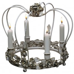 Vintage king crown for 4 candles