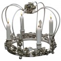Couronne bougeoir vintage pour 4 bougies