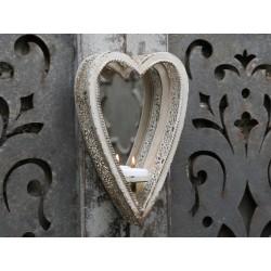 Miroir chandelier vintage en forme de coeur