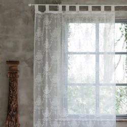 Rideau blanc casse Annabel 150 x 290 cm