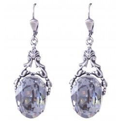 Boucles d'oreilles à cristaux Swarovski® Blue Shade sur monture argent