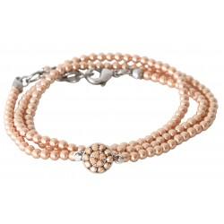 Bracelet à enrouler autour du poignet en perles Swarovski® Rose Gold Pearl et cristaux Vintage RoseSwarovski®