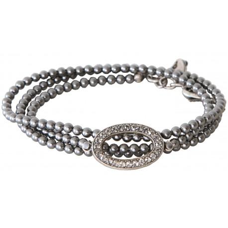 New Bracelet à enrouler autour du poignet en perles Swarovski® Rose Gold  Pearl et cristaux Vintage