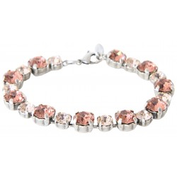 Swarovski® Crystal Bracelet Blush Rose and Silk