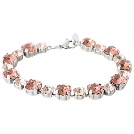Swarovski® Crystal Bracelet Blush Rose and Silk