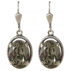 Black Diamond Swarovski® Crystal Earrings