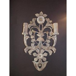 Applique Diamant blanc rouille
