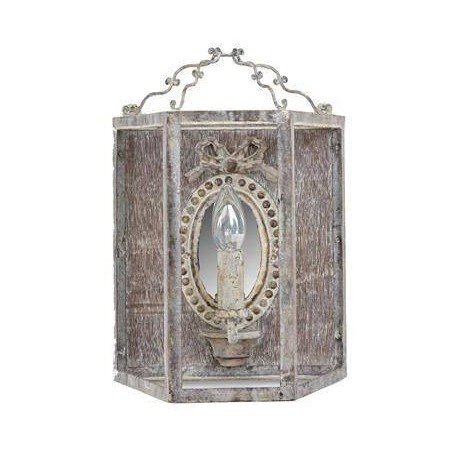 Rustic white wall sconce by Coquecigrues