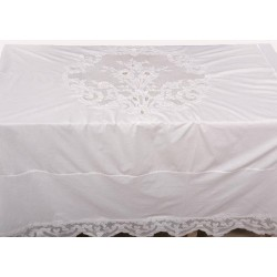 Nappe tubéreuse blanc 180 x 180 cm
