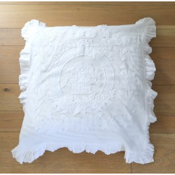 Taie d'oreiller nouveau porcelaine blanc 60 x 60 cm