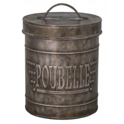 "Zinc table trash ""Poubelle"""