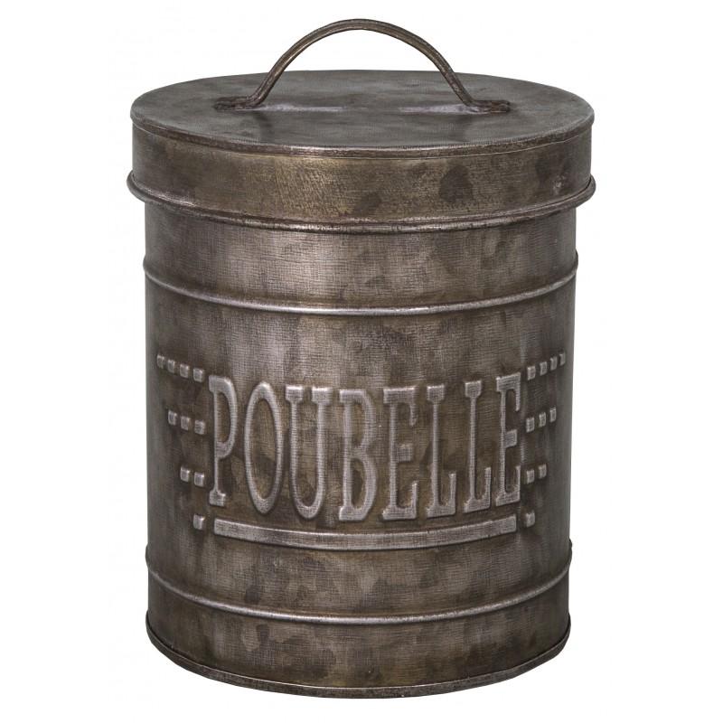 Poubelle zinc meilleures images d 39 inspiration pour votre design de maison for Poubelle en zinc