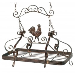 Vintage support cock for hanging casseroles