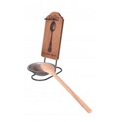 Repose cuillère avec support en bois