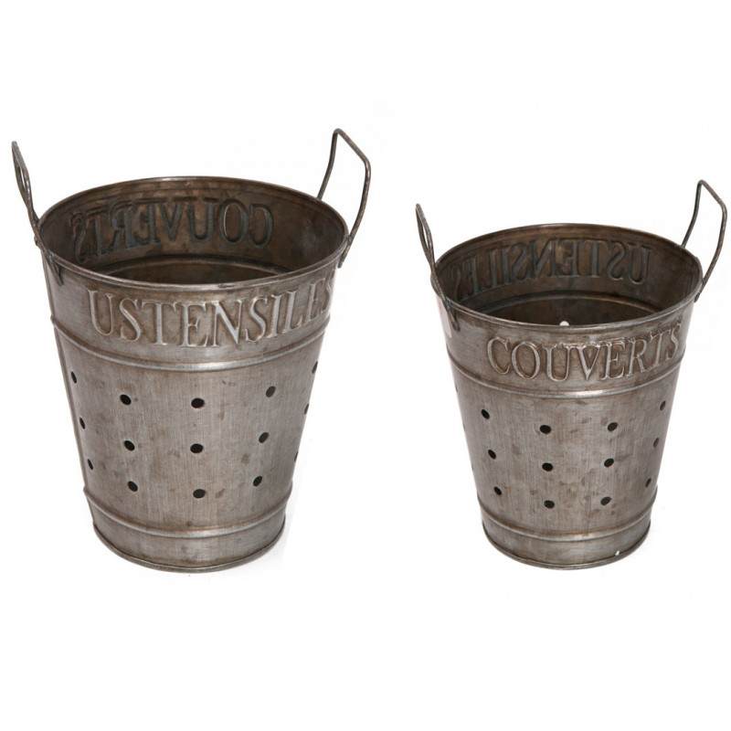 Zinc pots couverts ustensiles by antic line ideal for for Decoration zinc