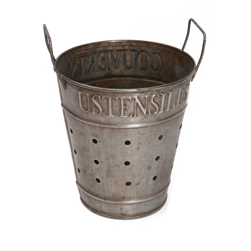 Zinc pots couverts ustensiles by antic line ideal for for Decoration zinc