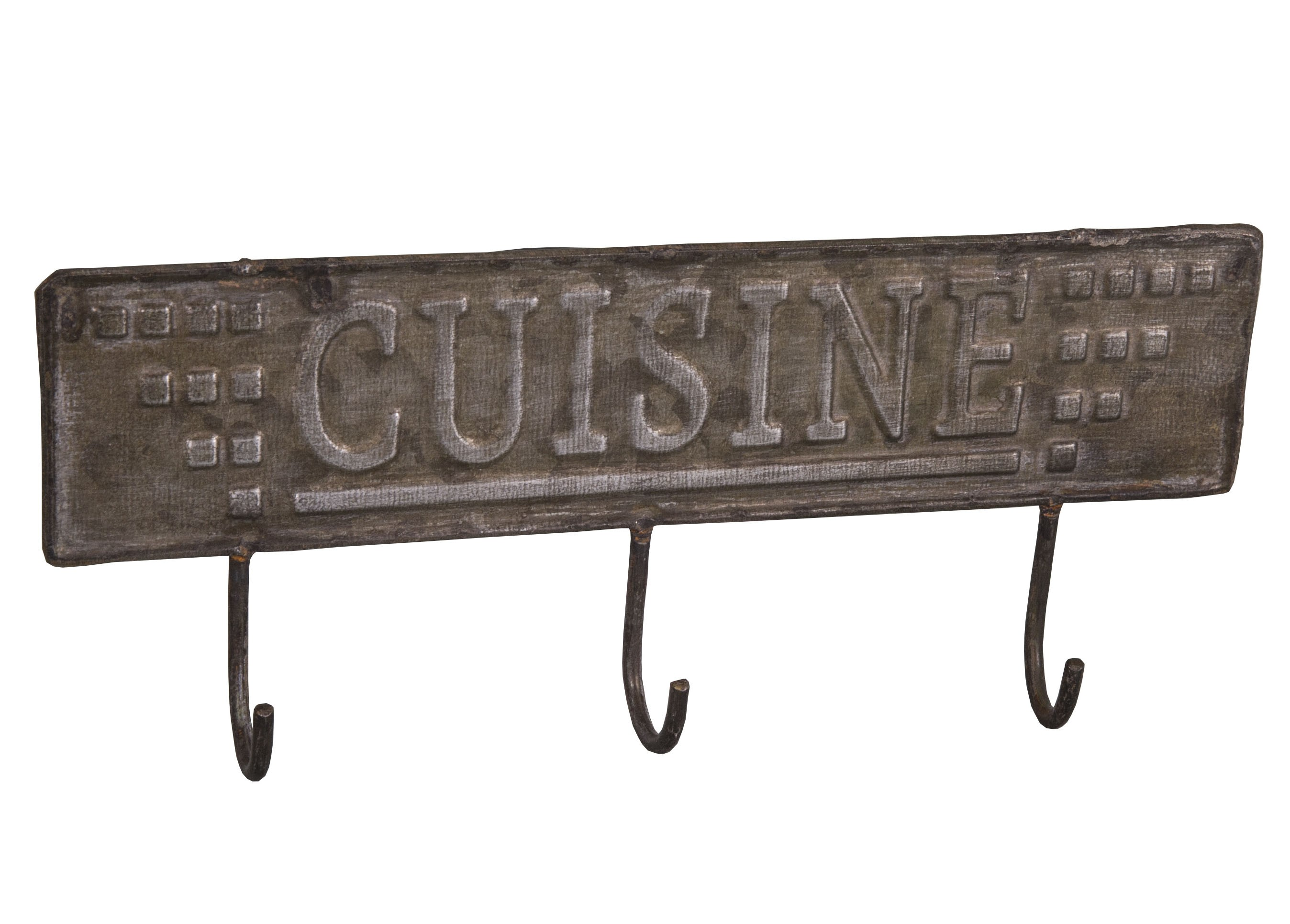 3 Hook Zinc Hook Cuisine By Antic Line Ideal For A Shabby Chic