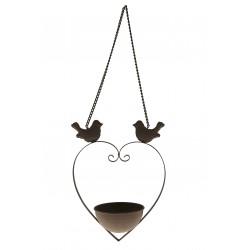 Mangeoire à oiseau coeur