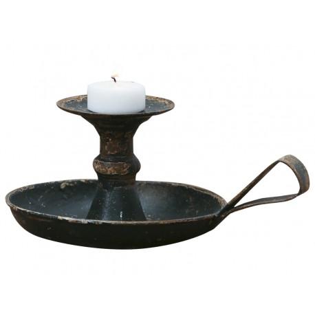 Porte lumignion noir antique en métal