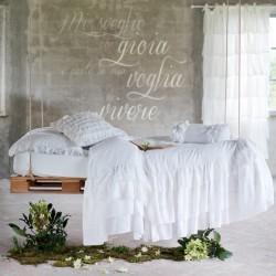 "Couvre lit ""Fru fru"" avec volants Blanc"
