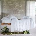 Couvre lit Fru Fru avec volants blancs 260 x 260 cm + 2 taies d'oreiller
