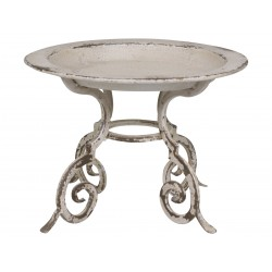 French centrepiece on foot antique white