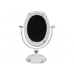 Miroir inclinable sur pied blanc antique
