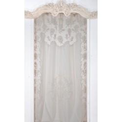 Artifice white curtain 130 x 300 cm