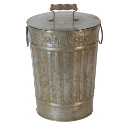 Zinc bathroom waste bin