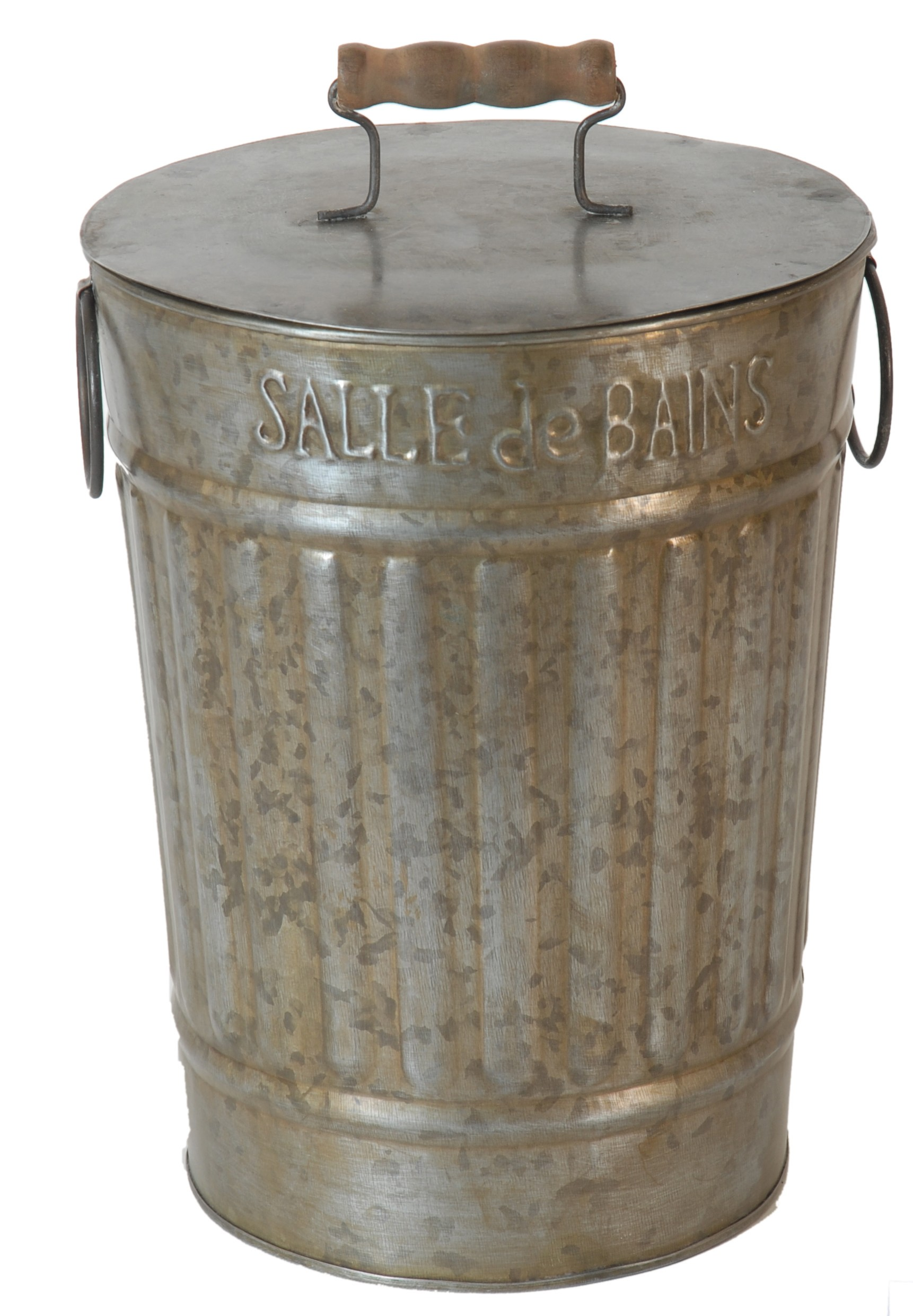 Poubelle Salle De Bain Vintage ~ poubelle de salle de bain couleur zinc par antic line dans un esprit