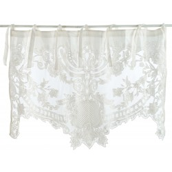 White embroidered curtain 140 x 290 Agave collection