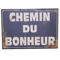 """Plaque décorative """"Chemin du bonheur"""""""