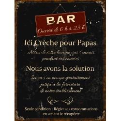 """Plaque décorative """"Crèche pour papas"""""""