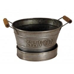 Mini bassine porte savon couleur zinc