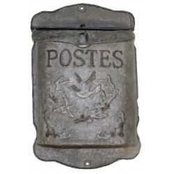 """Boite aux lettres """"Postes"""" couleur zinc"""