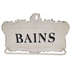 "Porte serviettes blanc ""Bains"""
