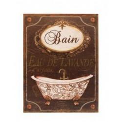"Metal plate ""Bain, Eau de lavande"""