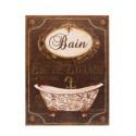"""Plaque décorative """"Bain, Eau de lavande"""""""