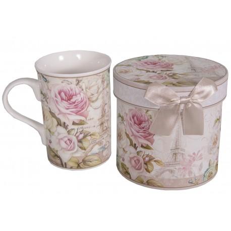 """Coffret mug décor """"Rose de Paris"""""""
