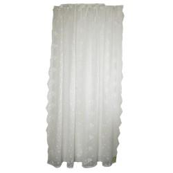 """Rideau de douche blanc cassé """"Maria"""" avec ses broderies 200 x 200 cm"""