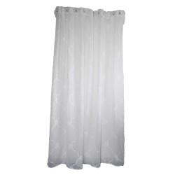 """Rideau de douche blanc """"Ruby"""" avec ses broderies 200 x 200 cm"""