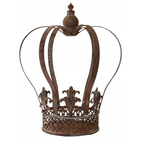 Couronne décorative en métal veilli