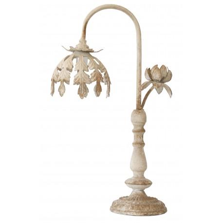 Lampe à poser de style shabby chic en métal blanc vieilli par Van Deurs Danmark pour une déco romantique