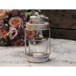 Lanterne décorative vintage blanc antique