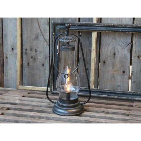 Lanterne décorative à ampoule couleur charbon antique